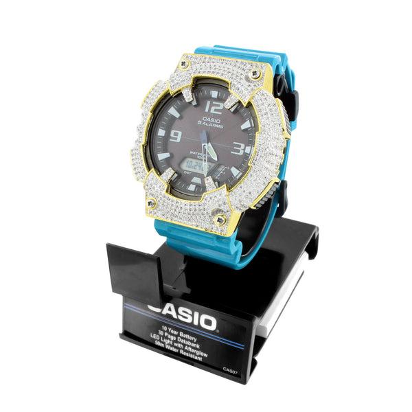 Casio AQS81D-2A Mens Solar Powered Digital Analog Watch