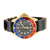 Mens Blue & Red Bezel Date Display Black Dial Jojino Watch Leather Band