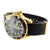 Mens Yellow Gold Finish Silicon Band Watch Forza Jojino Date Display White Dial
