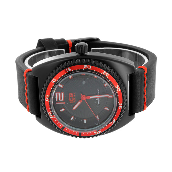 Red & Black Watch Ice Master Analog Quartz Water Resistant