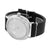 Black Leather Band Watch White Ice Mania