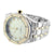 Mens Presidential Quartz Watch 14k White & Gold Finish  Metal Band