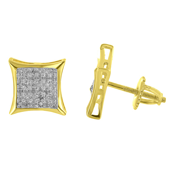 Genuine Diamonds Kite Earrings Gold On Sterling Silver