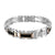 Stainless Steel White Black Rose Gold Finish Bracelet