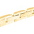 14K Gold Finish Lab Diamond Stainless Steel Bracelet