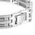 ID Style Lab Diamond Black White Gold Finish Stainless Steel Men Bracelet