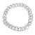 Miami Cuban Stainless Steel Mens Bracelet in 14k White Gold Finish