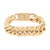 Miami Cuban Bracelet 14K Rose Gold Finish Stainless Steel 21mm Box Lock