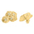 14K Gold Finish Nugget Lab Diamond 22 MM  Silver Earrings