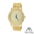 14K Gold Tone Techno Pave Steel Back Lab Diamonds Watch