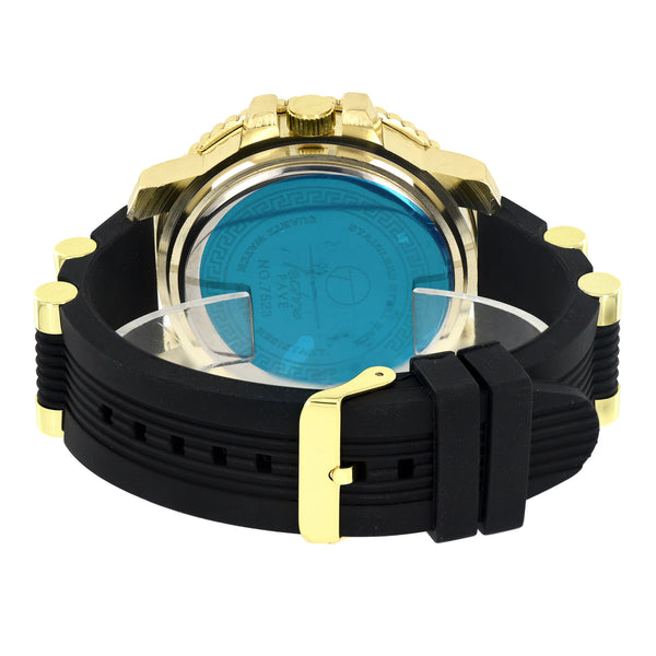 Jojo Jojino Mens Watch Gold Finish  Bezel Dial