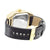Techno Pave Lab Diamond Gold Finish Leather Band Watch
