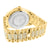 Yellow Finish Simulated Lab Diamond Techno Pave Watch