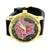 Medusa Watch Red Black Dial Designer Water Resistant Silicone Band