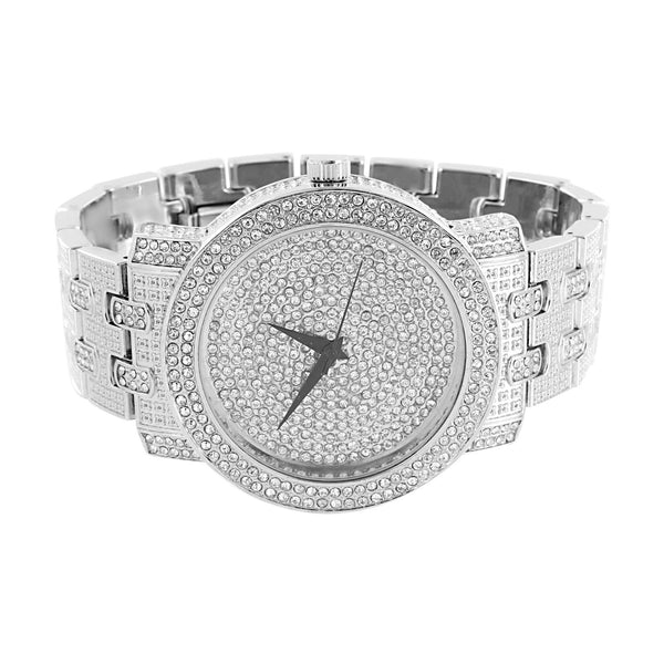 Mens Lab Diamond Watch Iced Out Analog