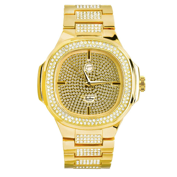Men's  Simulated Diamonds Square Face Watch