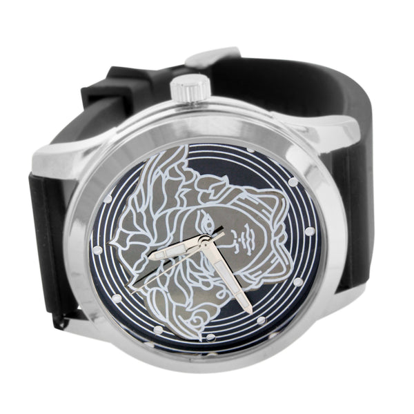 White Gold Tone Watch Medusa Dial Limited Edition