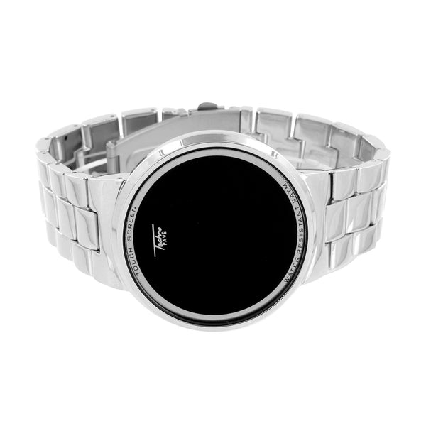 Touch Screen Watch White Techno Pave Digital Display