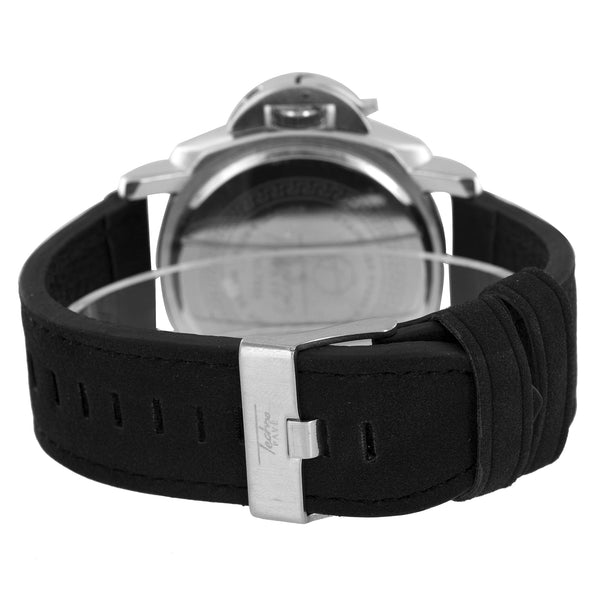 White Jojo Jojino Watch Black Dial With Leather Strap
