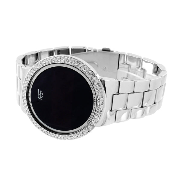 Touch Screen Watch Bling Techno Pave Smart Watch Digital