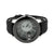 Black PVD Mens Watch Techno Pave Rubber Strap
