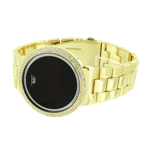 Touch Screen Smart Watch Digital Display Bling Bezel