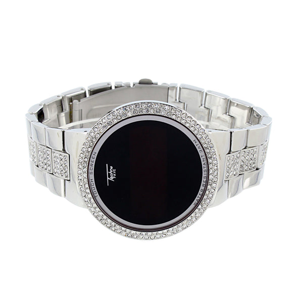 Touch Screen Display Watch Simulated Diamond Bezel Digital Display