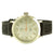 14K White Gold Techno Pave Black Fabric Strap Steel Watch