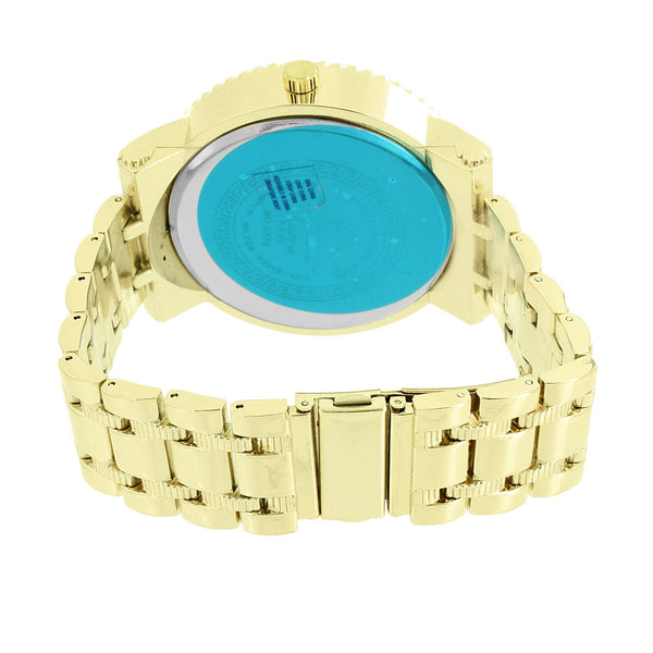 Silver Tone Dial Mens Watch Techno Pave