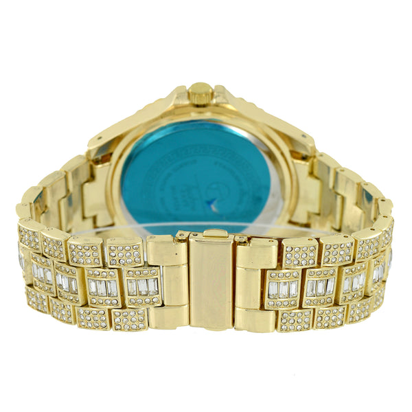 Gold Finish Jojo Watch Joe Rodeo Jojino Style Fully Iced Out
