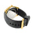 Techno Pave Mens Gold Finish Rubber Black Band Watch