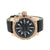 Rose Gold Finish Watch Quartz Battery Techno Pave