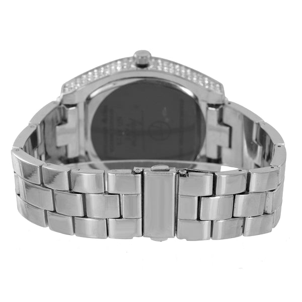Mens Hip Hop  Watch Techno Pave Bling Rapper Classy