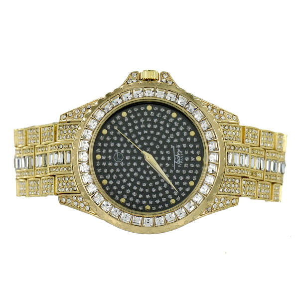 Bling Watch Bling  Hip Hop Rapper Wear Gold Finish Jojino