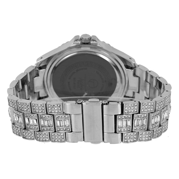 Princess Cut Mens Watch Hip Hop Iced Out Bling Joe Rodeo
