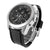 Mens Techno Pave Black Dial White Finish Stainless Steel Back Watch