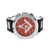 Red Freemason Masonic Watch Black Bullet Design Rubber Band