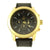 Techno Pave 14K Gold Tone Black Dial Black Rubber Mens Watch