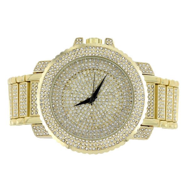 Jojino Jojo Watch Black Dial Princess Round Iced Out Hip Hop