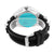 Techno Pave Mens Watch Silicone Rubber Strap