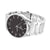 Black Dial Mens Watch Stainless Steel Case Water Resistant Techno Pave Jojino