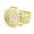 Gold Finish Watch Simulated Diamonds Mens Custom Joe Rodoe Jojo Jojino Iced Out