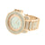 Iced Out Watches Mens CZ 14k Rose Gold Finish Stainless Steel Back Unique Jojo