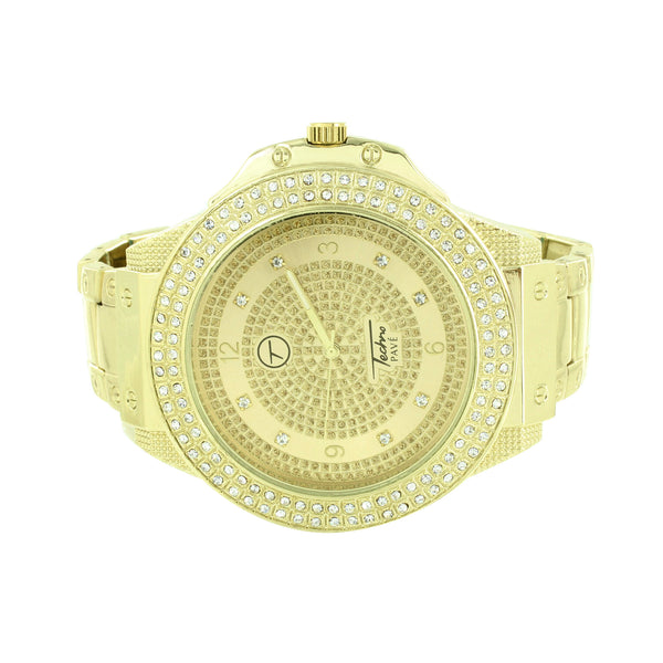 Simulated Diamonds Watch Mens Techno Pave Jumbo Big Face 59 MM Joe Rodeo Jojino