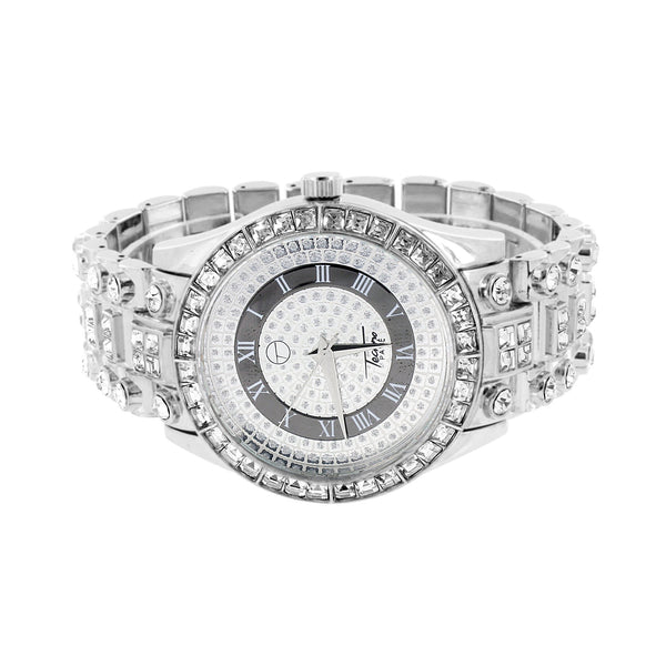 Men Princess Cut Watch Fully Iced Out Unique New Design Rapper Wear Hip Hop Sale