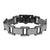 Mens Lab Diamond Bracelet 14k Black Gold Tone Stainless Steel