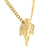 Yellow Gold Finish Angel Wing Lab Diamond Pendant + Necklace