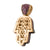 Mens Hamsa Hand Amethyst Lab Diamonds 14K Gold Finish Over Sterling Silver