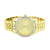Icetime Watch Genuine Diamonds Mens Gold Dial Pave Set Yellow Gold Finish