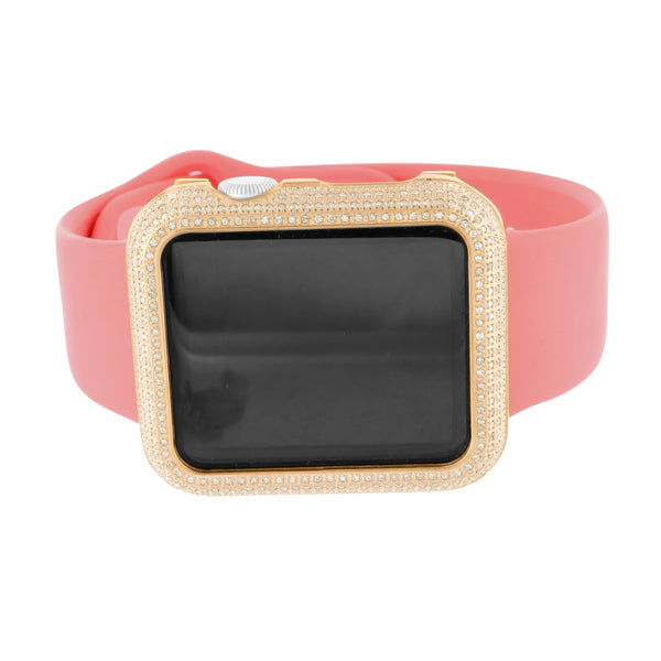 Rose Gold Finish Real Diamond Apple Watch